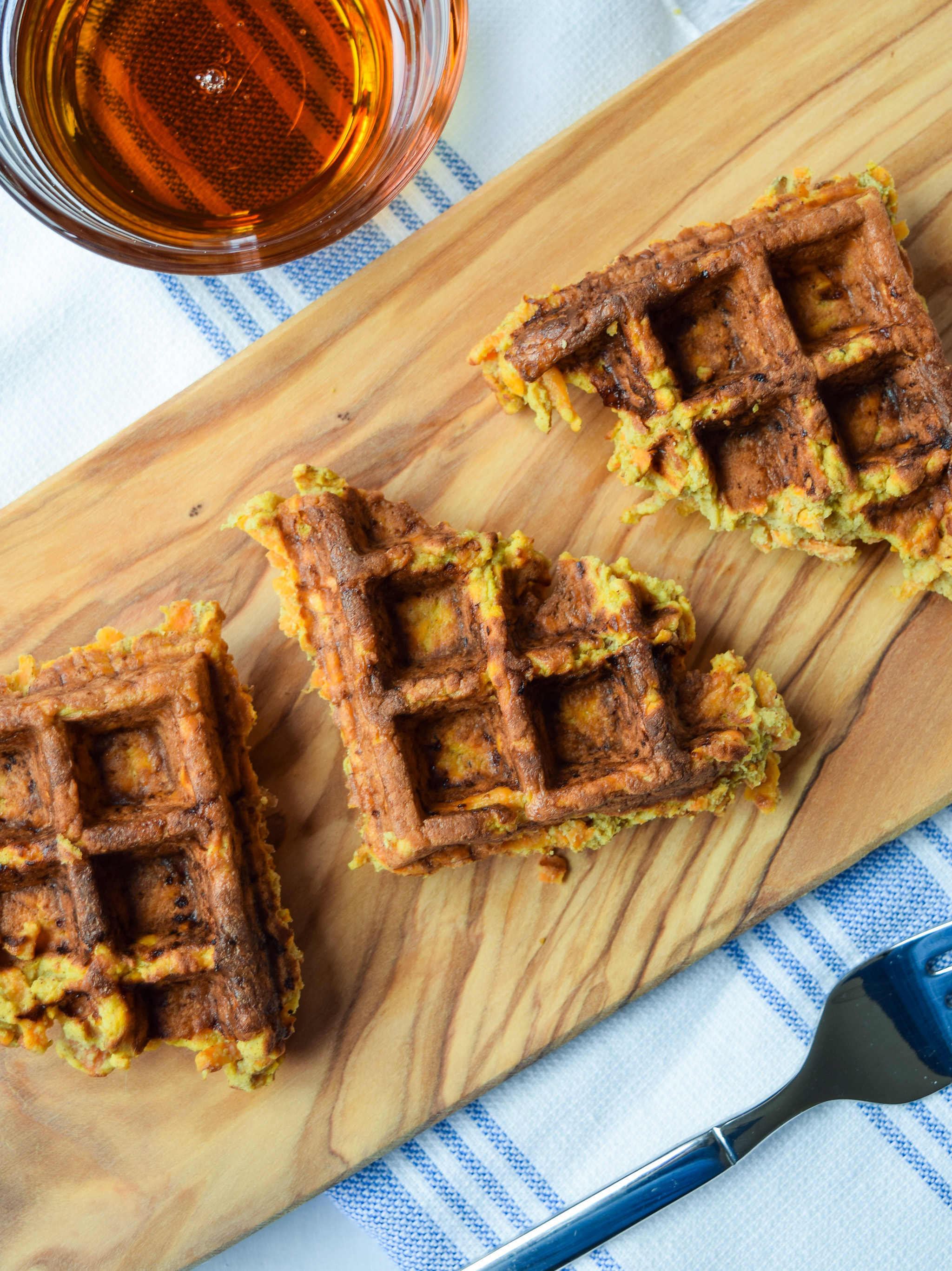 Yummy Sweet Potato Waffles - ProjectMealPlan.com