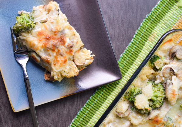 broccoli chicken quinoa casserole