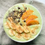 Peaches and Green Smoothie recipe - power greens, peaches, bananas plus protein! Easy smoothie recipe on ProjectMealPlan.com!