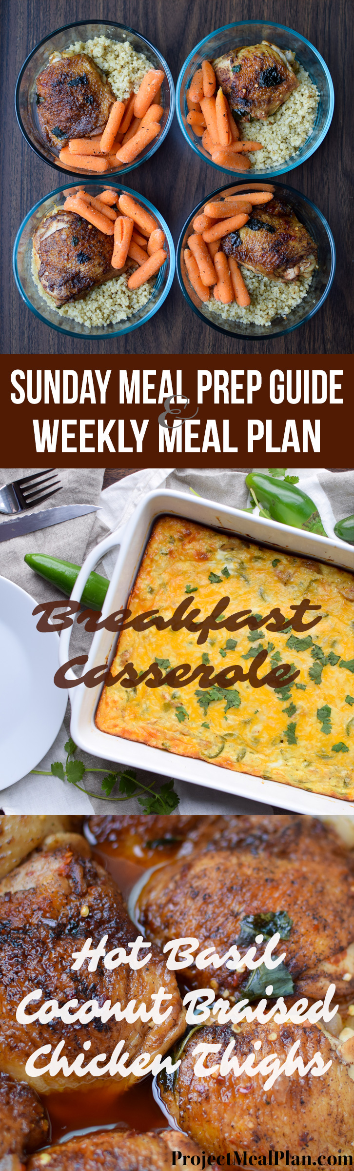 Sunday Meal Prep and Weekly Meal Plan from Project Meal Plan - shopping list, step by step instructions, sweet pics and more!!