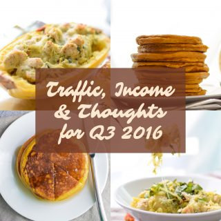 Traffic, Income, & Thoughts for Q3 2016 - Follow Project Meal Plan's traffic, income, and thoughts on July-September 2016 and the progress of the blog as a whole!