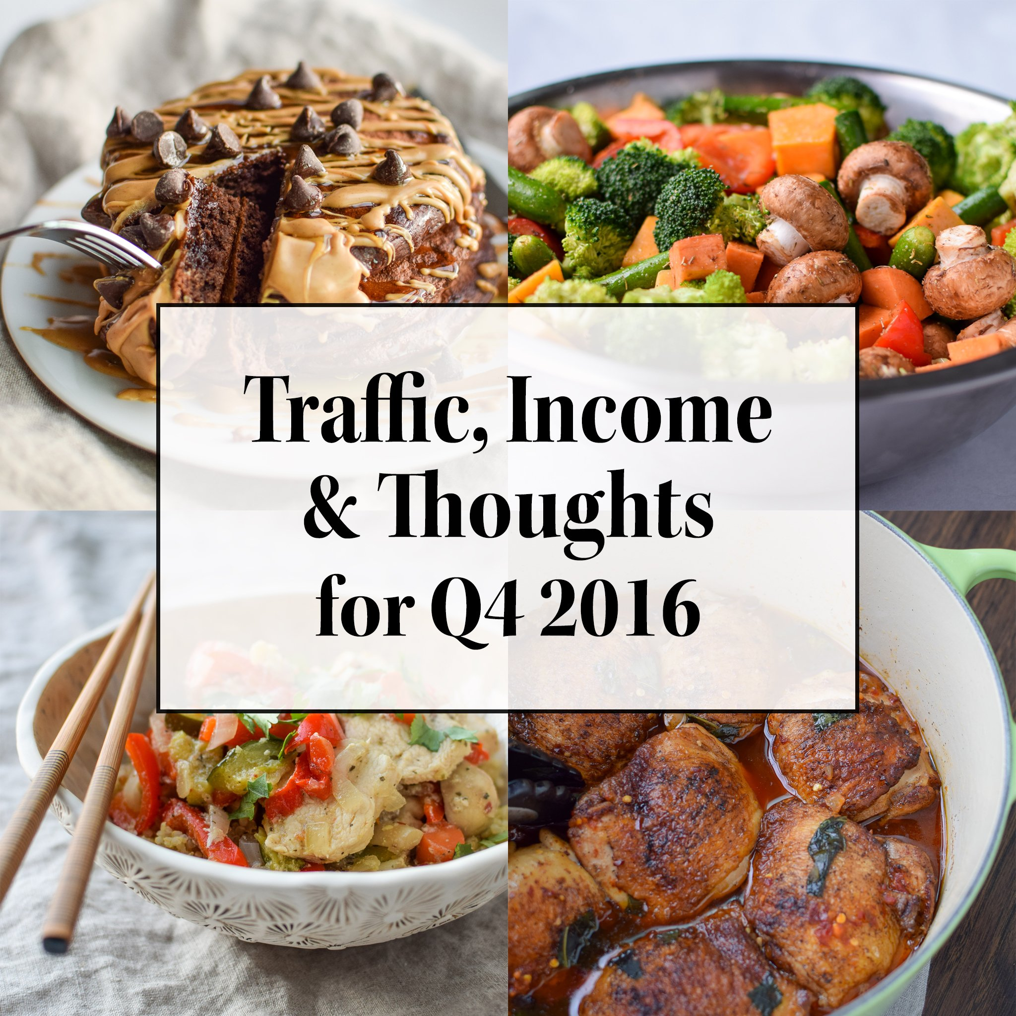 Traffic, Income & Thoughts for Q4 2016 - Follow Project Meal Plan's traffic, income, and thoughts on October-December 2016 and the progress of the blog as a whole!