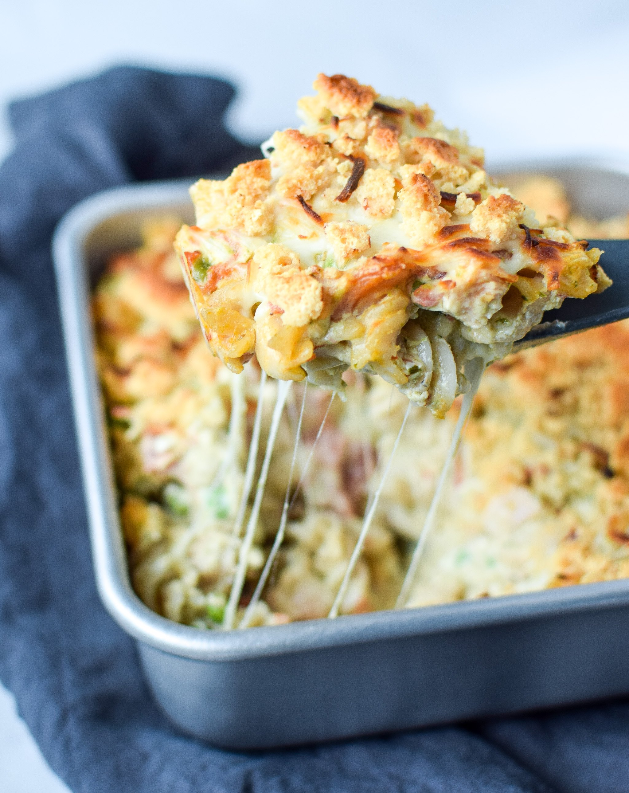 Creamy Pesto Pasta Chicken Bake with Peas - Project Meal Plan