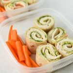 Turkey Pesto Tortilla Pinwheels - My favorite deli cold lunch in a homemade version PLUS pesto!! LOVE. - ProjectMealPlan.com