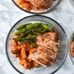 Meal Prep Asian-Style Marinated Chicken with Veggies - An easy & flavorful chicken marinade for Asian-style baked chicken with my favorite veggies! - ProjectMealPlan.com