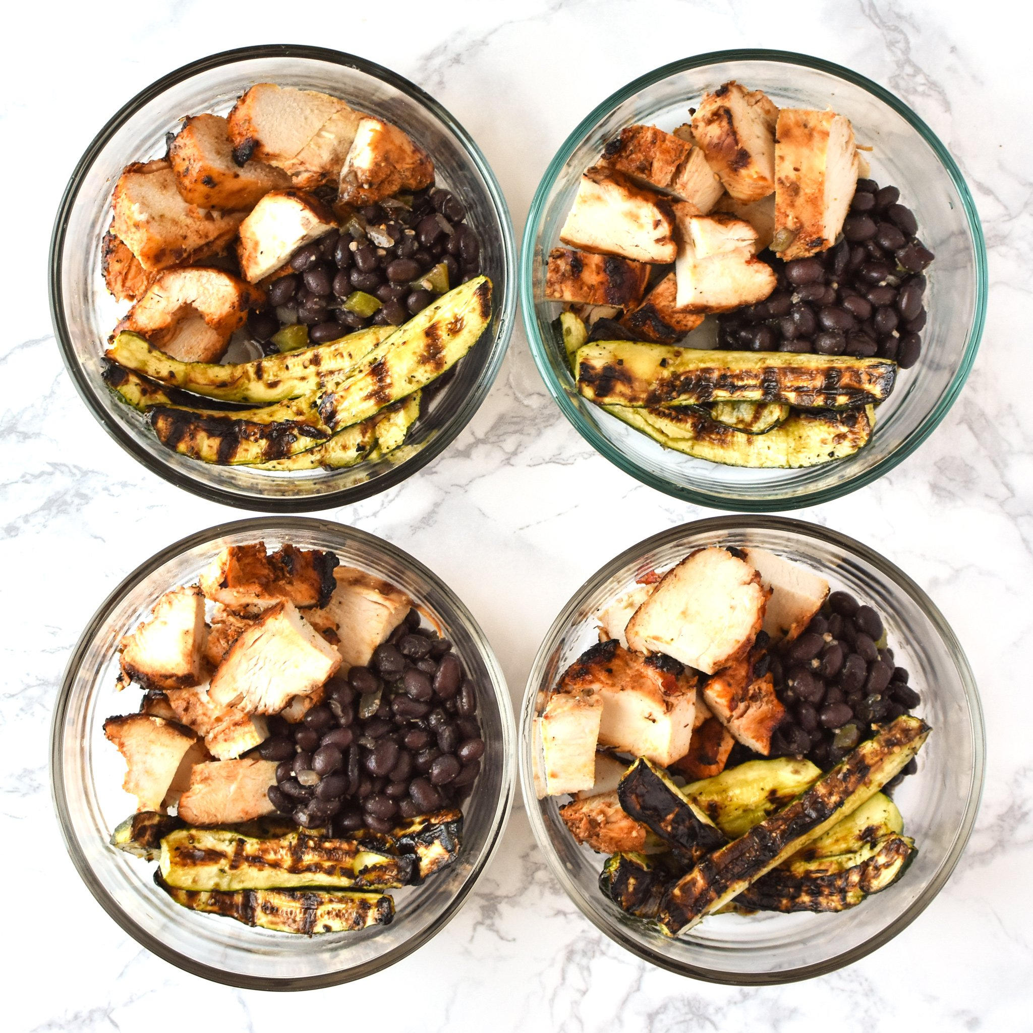 Meal Prep Chipotle Grilled Chicken With Seasoned Black Beans And