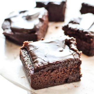 Chocolate Espresso Zucchini Brownies recipe - Gooey chocolate mocha goodness, with fresh zucchini blended right in! - ProjectMealPlan.com