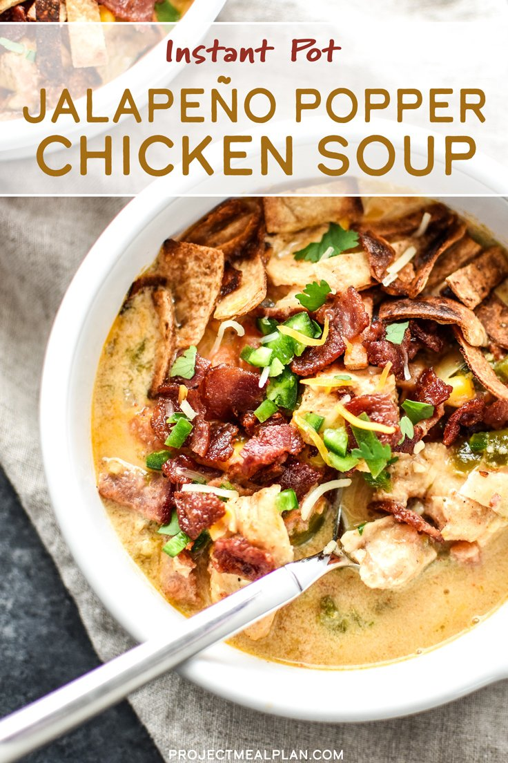 Instant Pot Jalapeño Popper Chicken Soup - Project Meal Plan