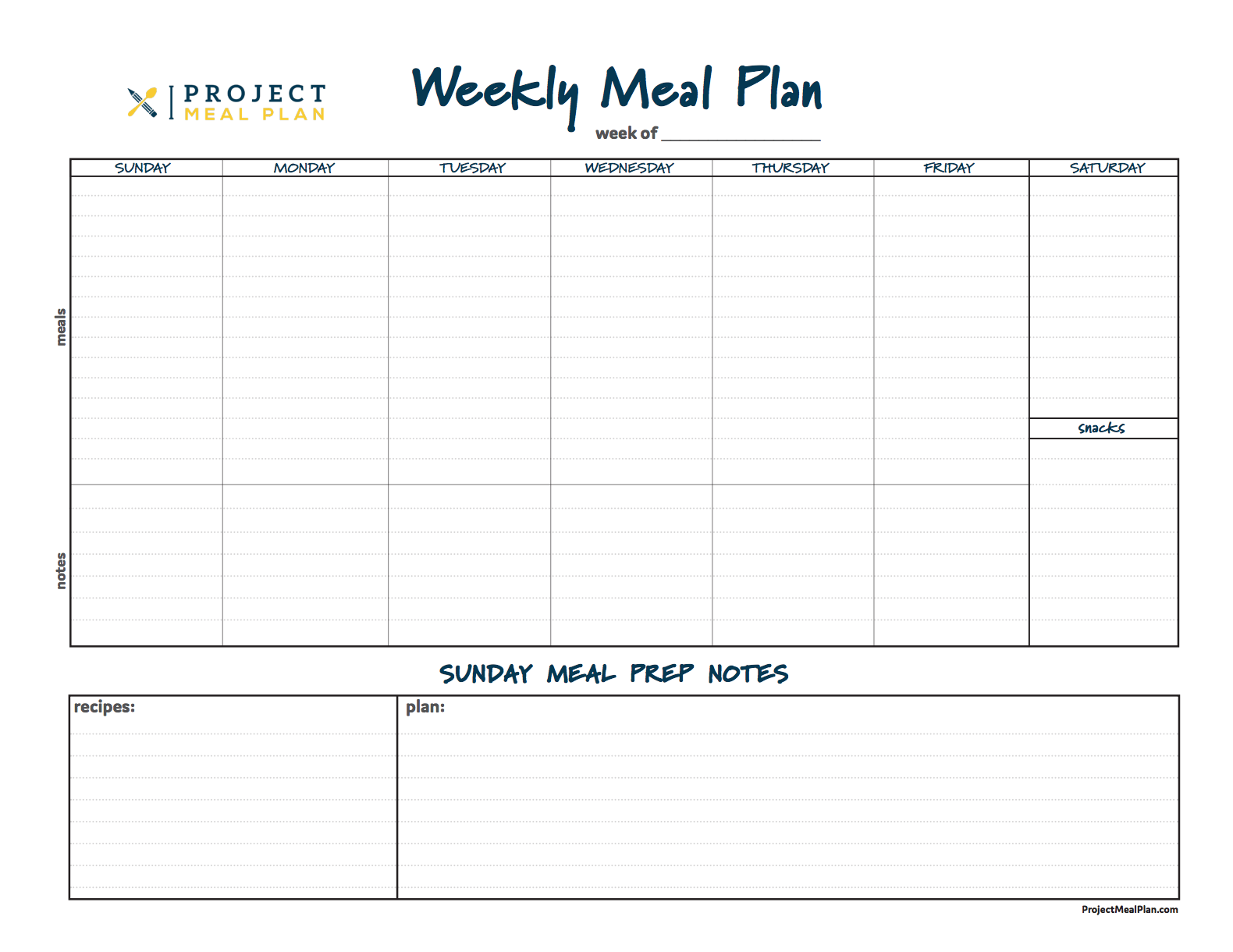 Weekly Meal Planner copy