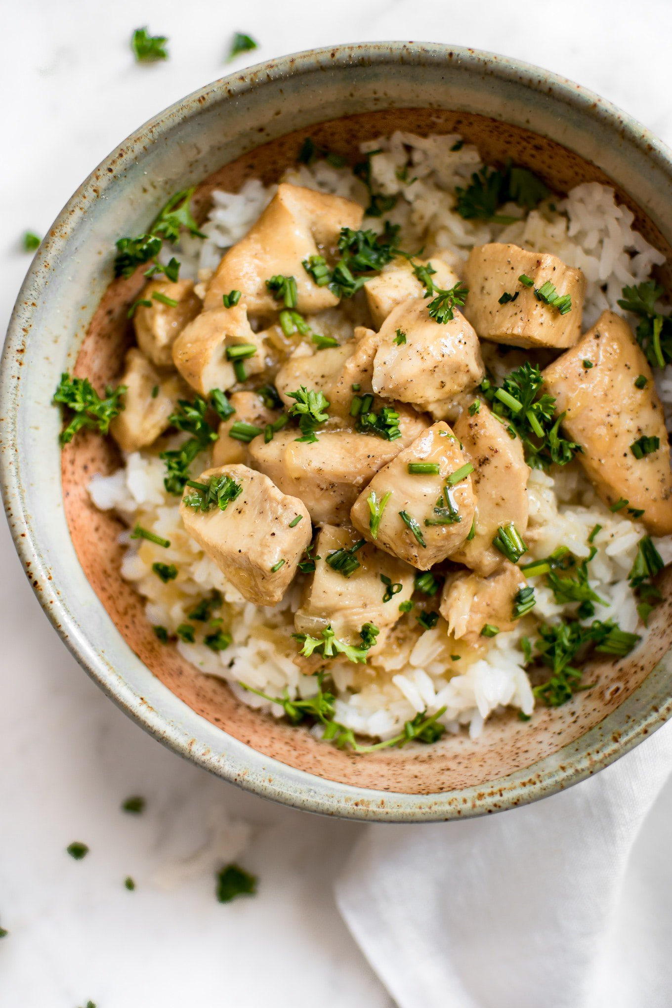 Salt and Lavender instant pot honey garlic chicken with rice