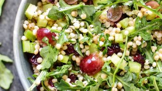 Make-Ahead Lemon Poppyseed Couscous Arugula Salad