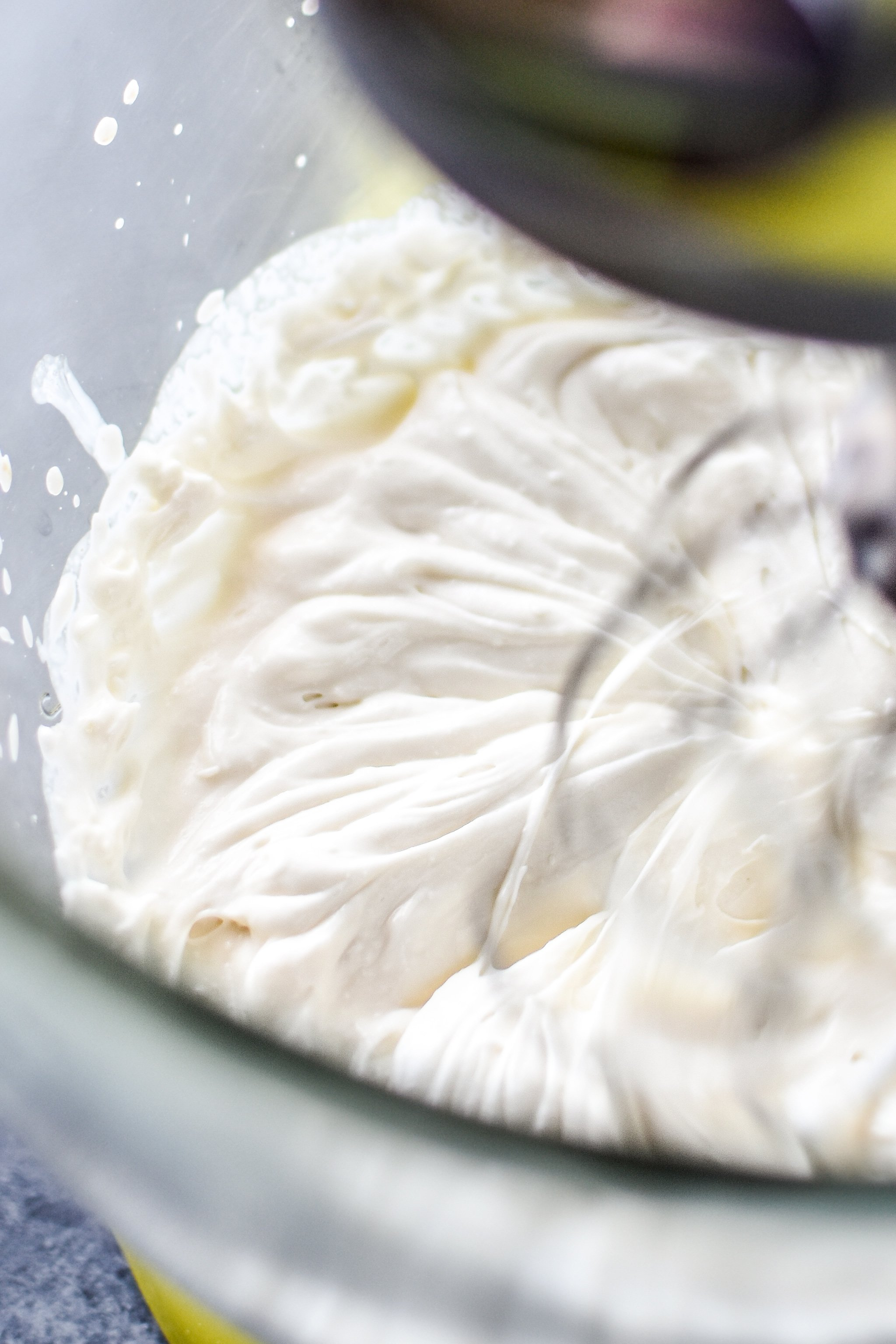 Make whipped greek yogurt in the stand mixer.