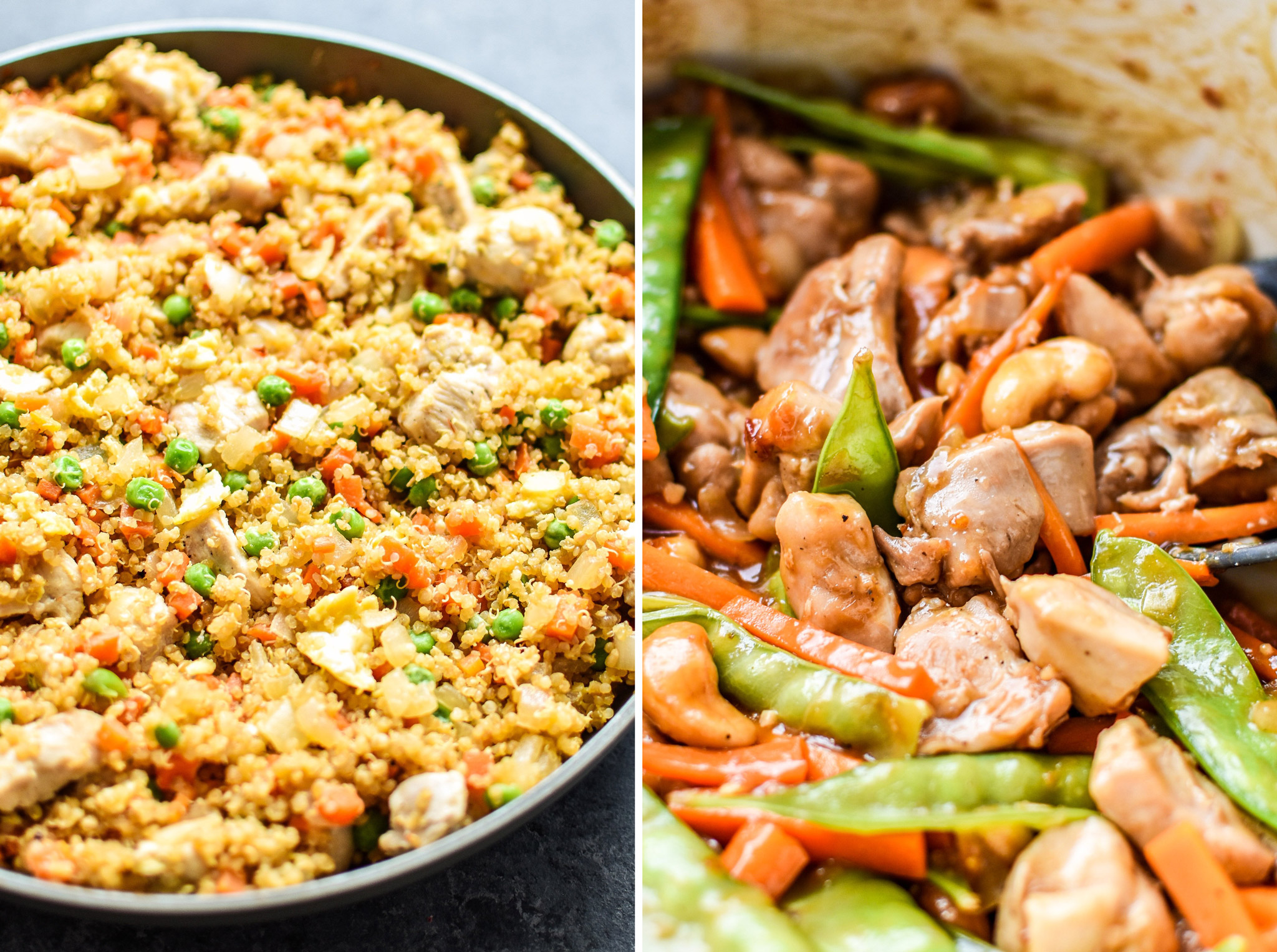 Two examples of meal you can prep for dinner and eat for leftovers in How to Meal Prep and Eat Different meals Every Day