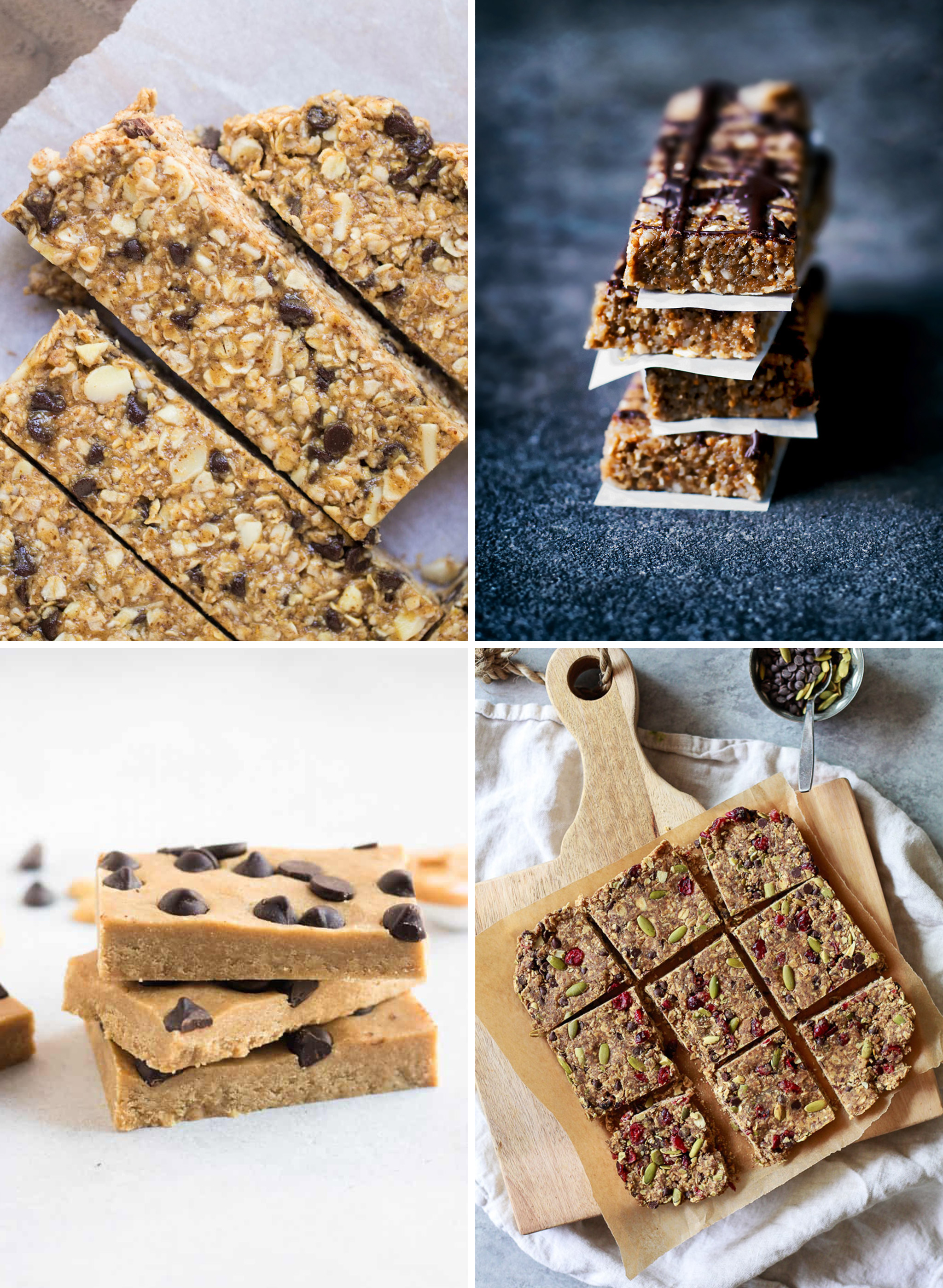 4 kinds of homemade healthy snack bar recipes you can meal prep