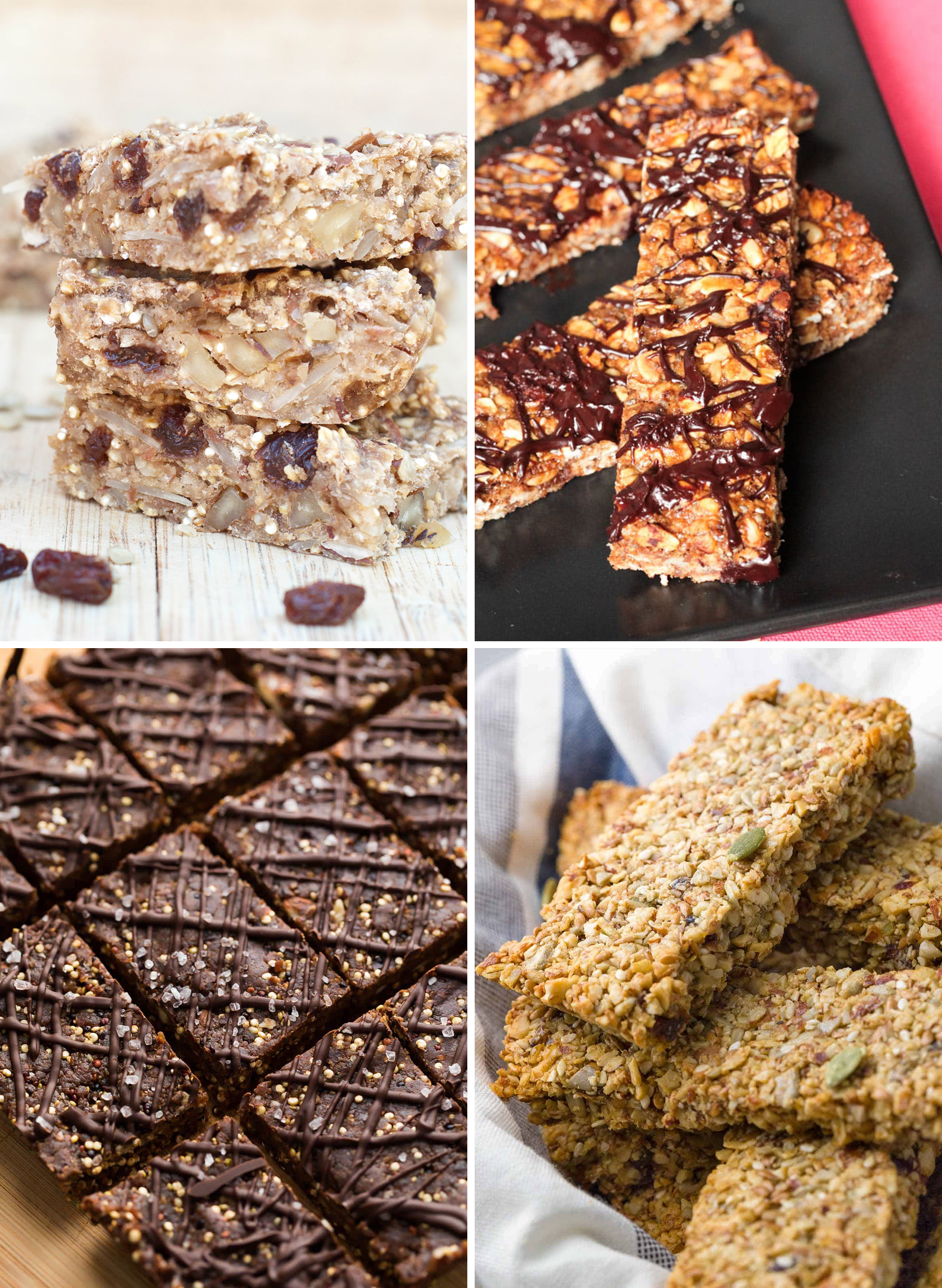 4 kinds of baked healthy snack bars you can meal prep