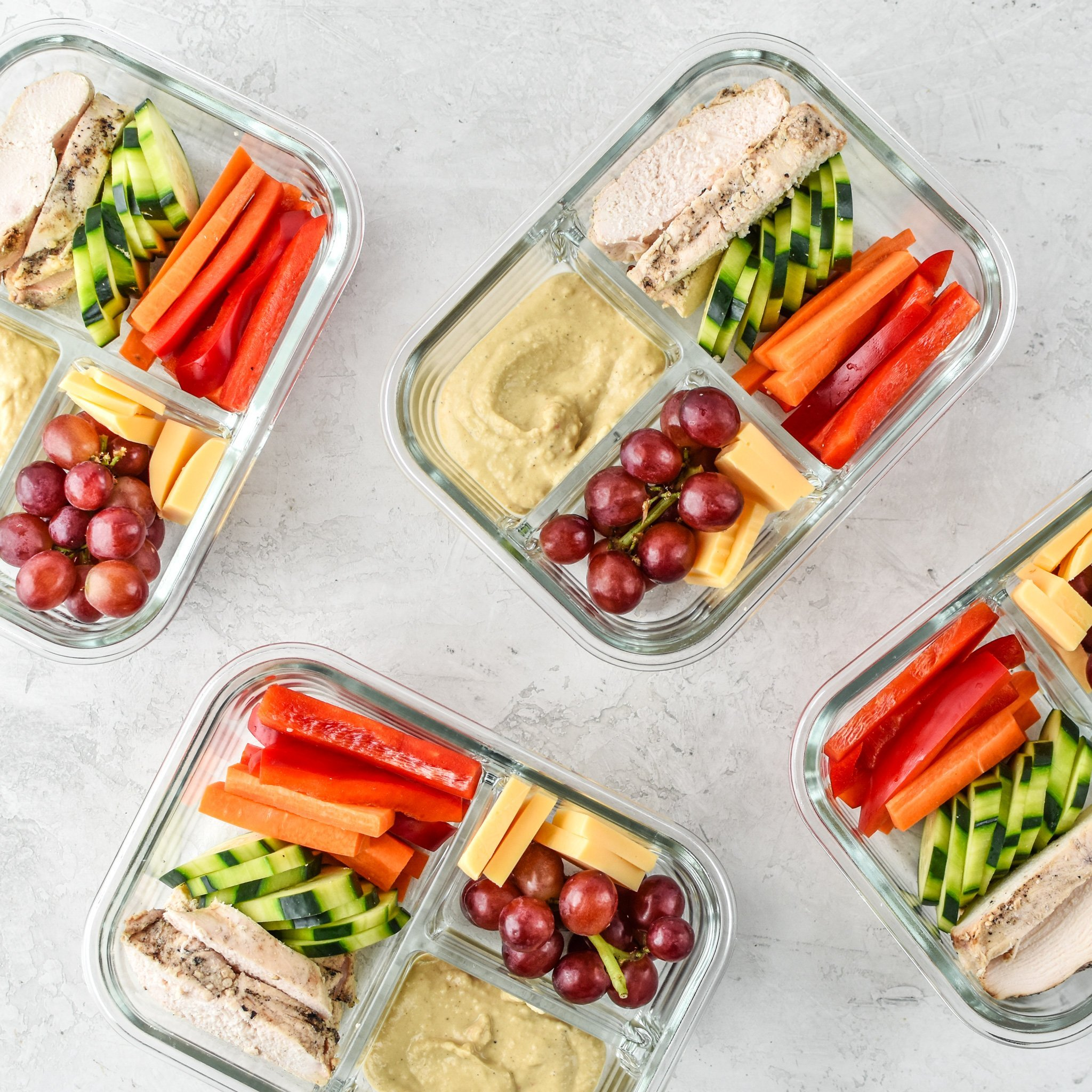 most popular recipes of 2018 chicken & hummus plate lunch meal prep
