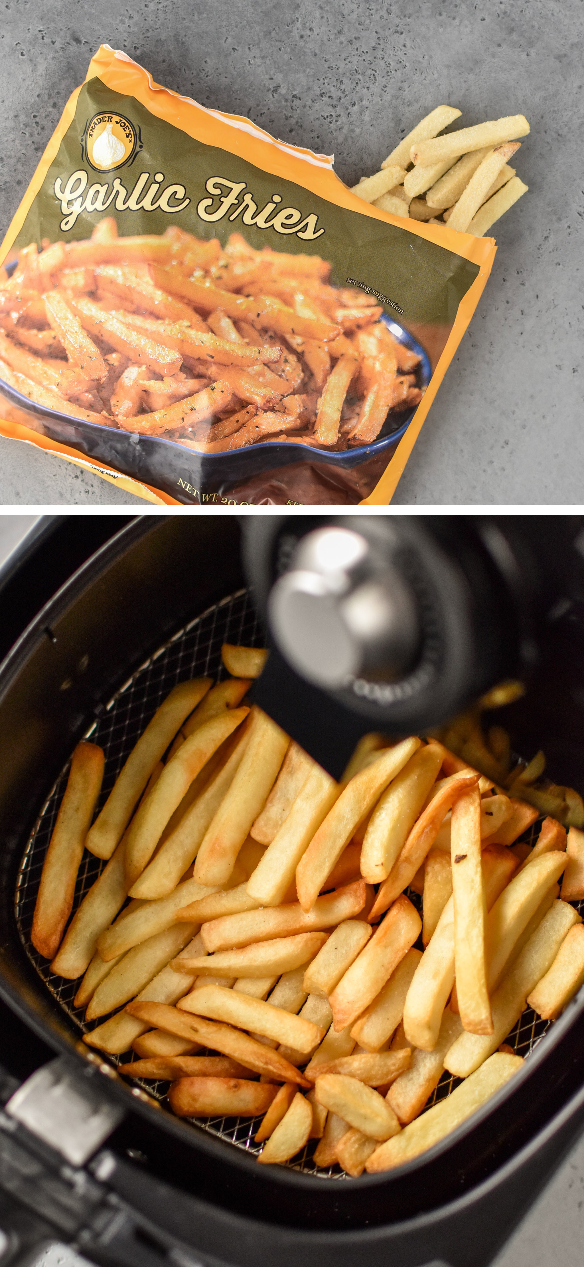 Garlic fries from trader Joe's made in the air fryer!