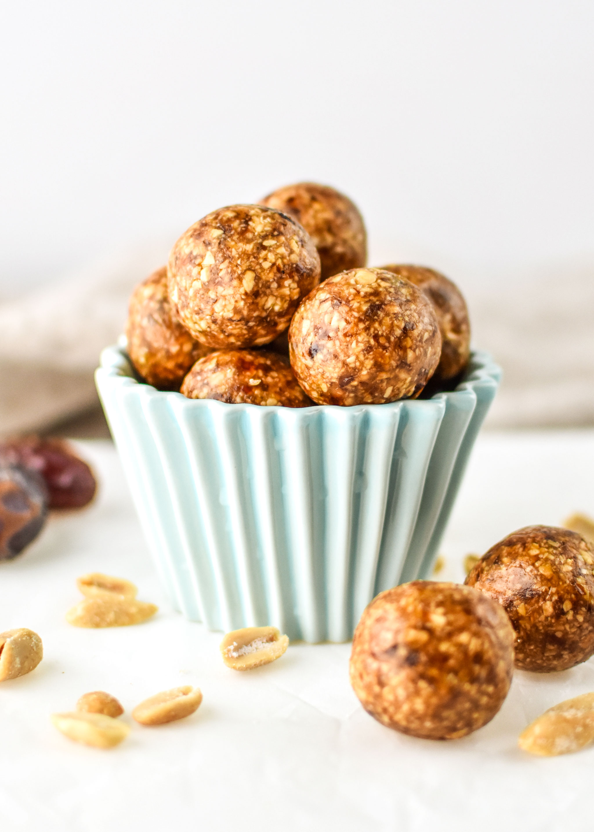 Peanut butter cookie balls on display!