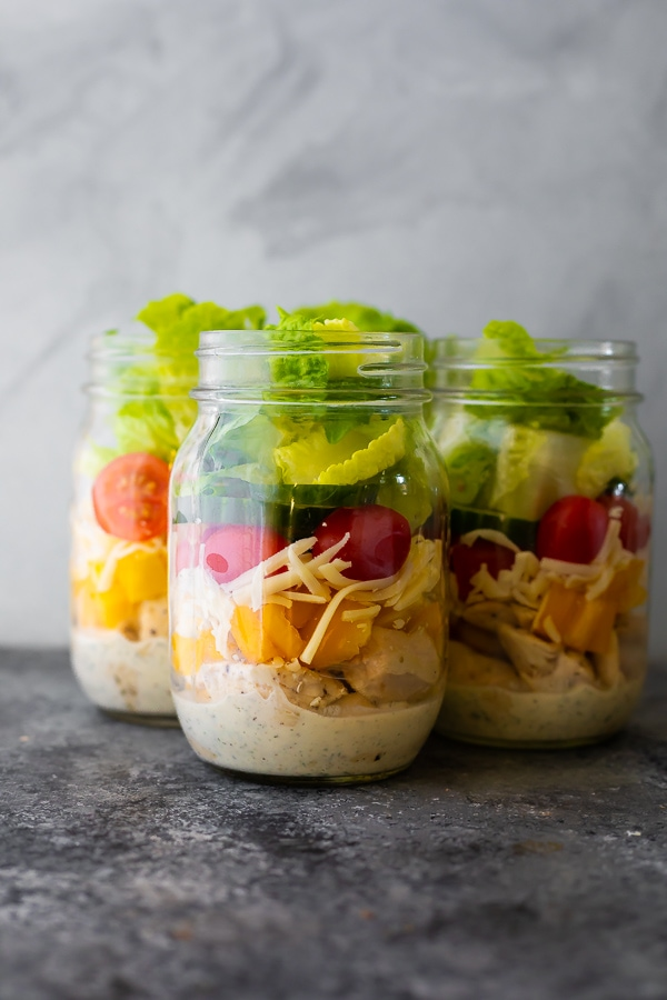 Ranch Chicken Jar Salads