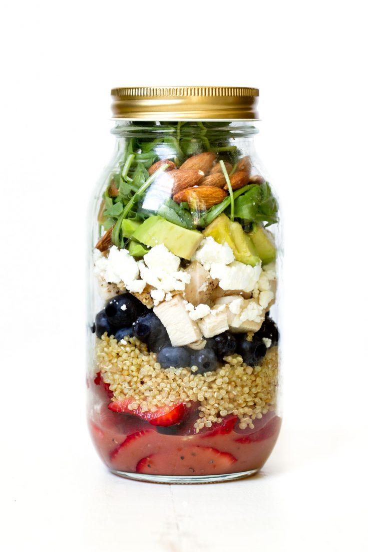 Chicken Berry Quinoa Jar Salad