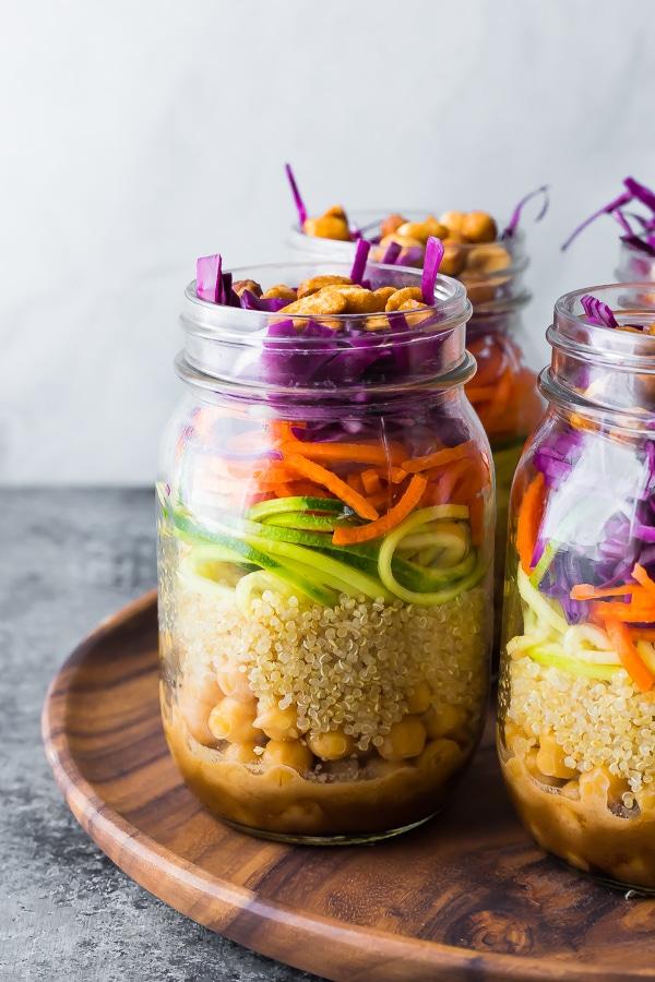 Thai Chickpea Mason Jar Salad