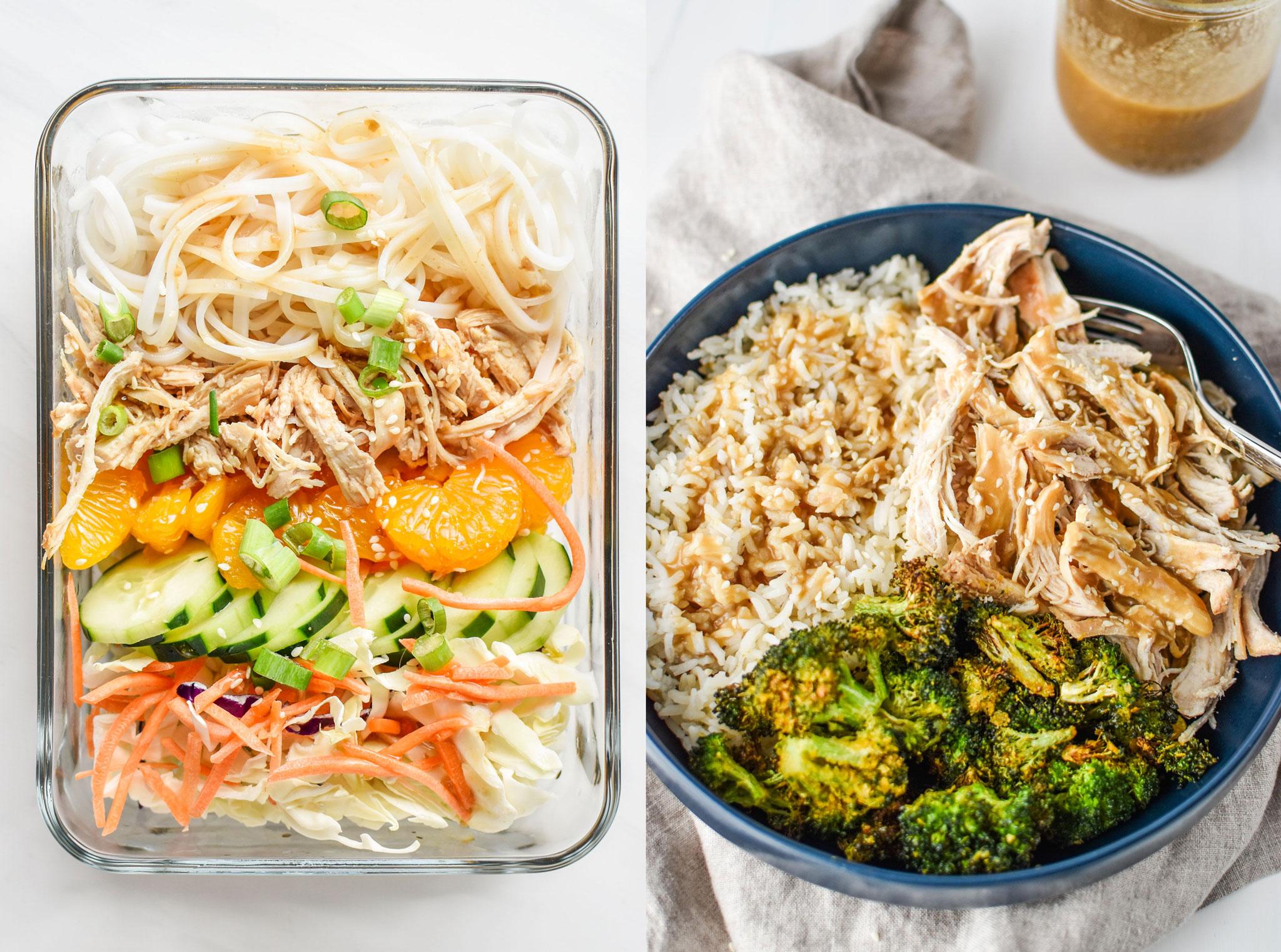 Meal ideas for the sesame shredded chicken