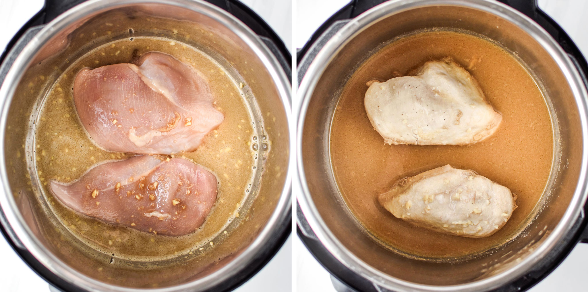 Chicken cooking in the instant pot