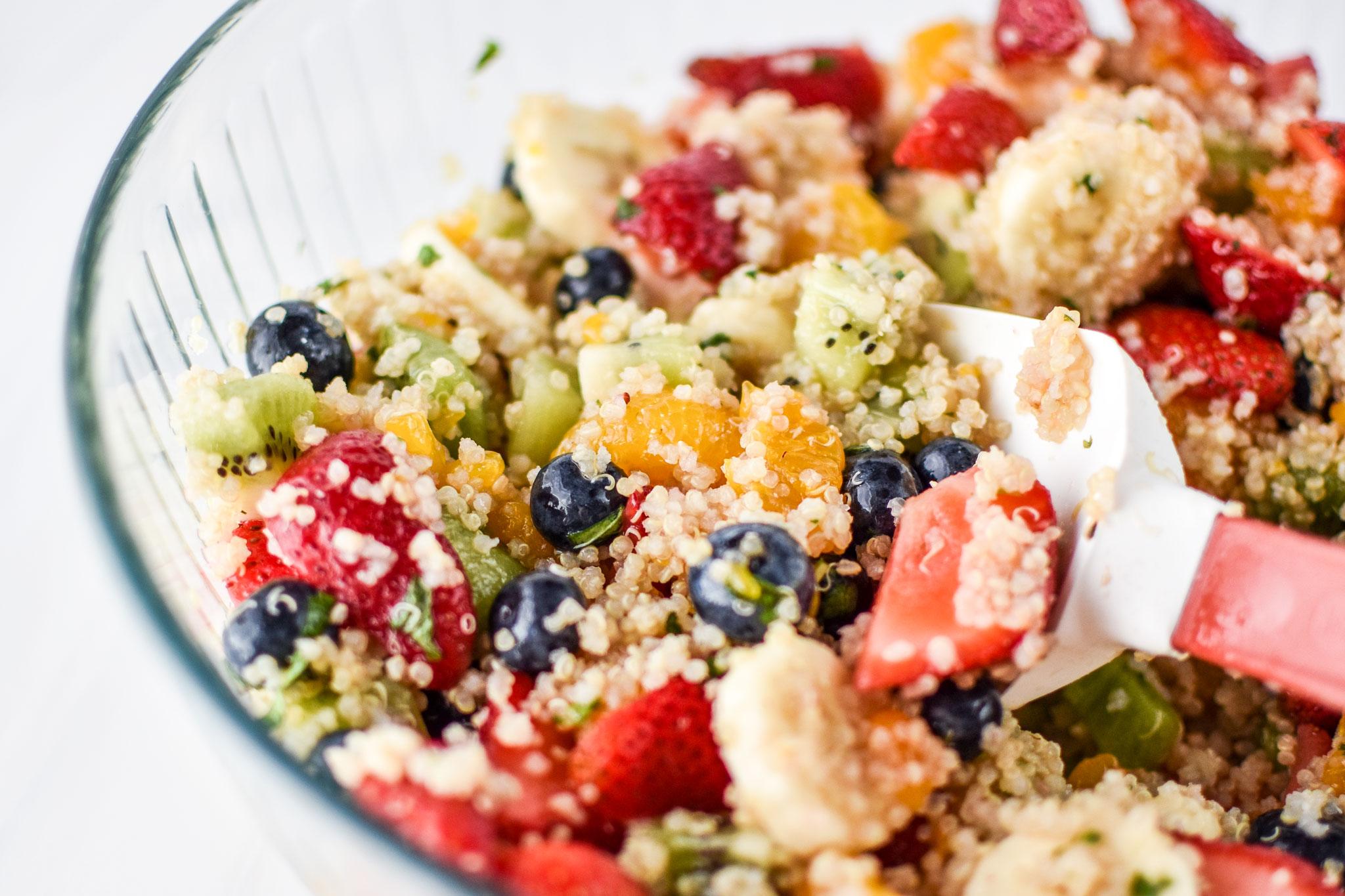 Mint quinoa fruit salad
