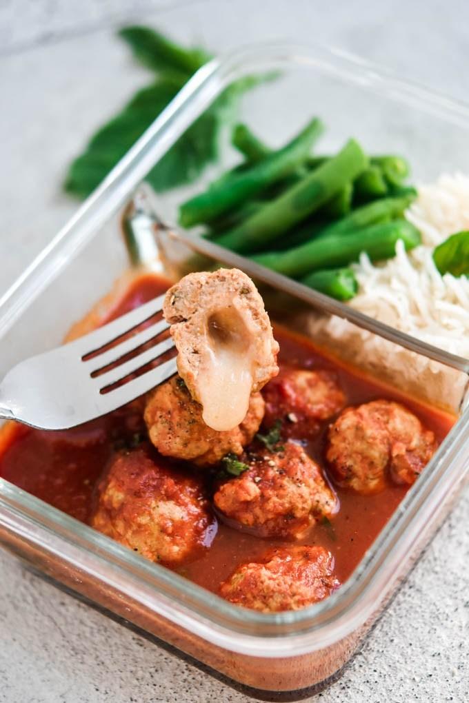 Meal Prep Instant Pot Italian Stuffed Meatballs