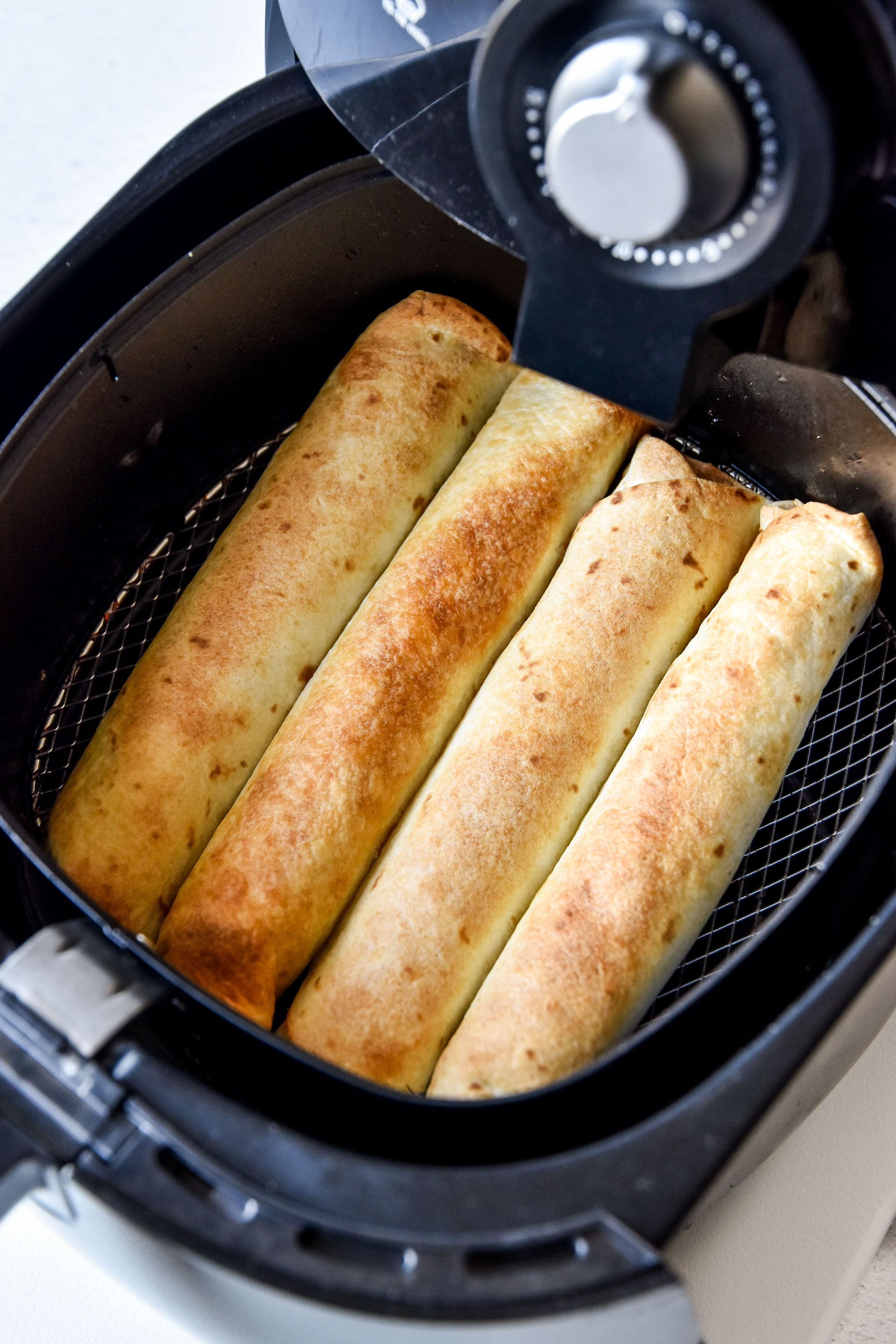 air fryer chicken taquitos fresh from the air fryer