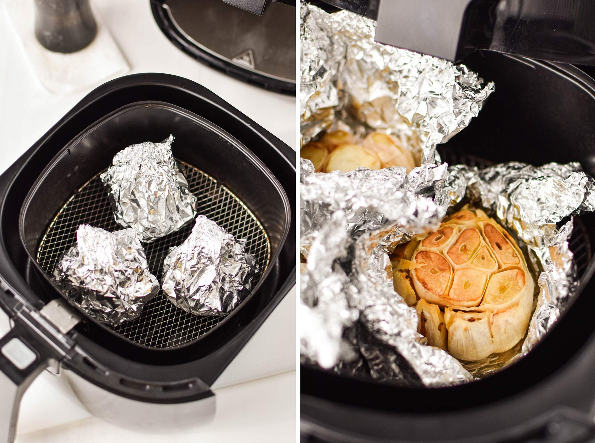 roasting garlic in the air fryer is one of the first air fryer recipes I worked on!