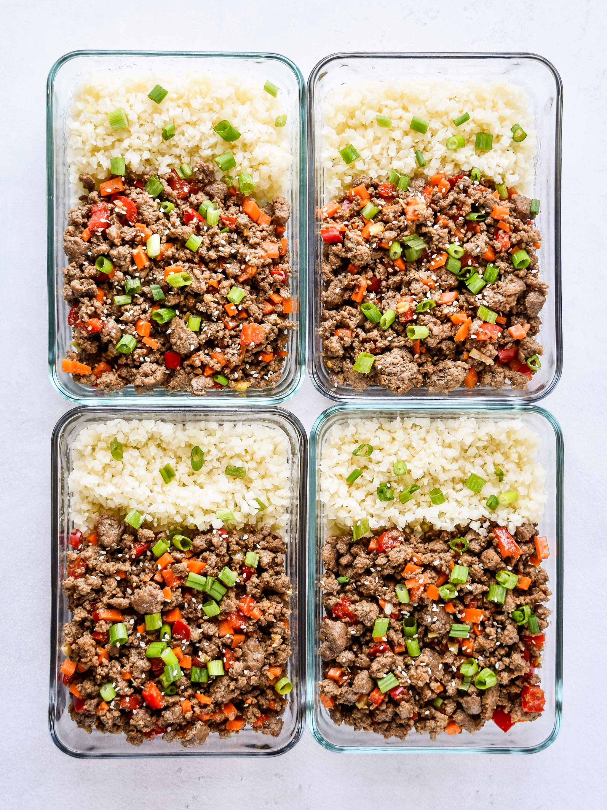 ginger ground beef bowls