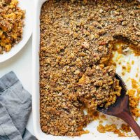 Sweet Potato Casserole with Brown Sugar Topping
