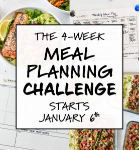 4 week meal planning challenge cover