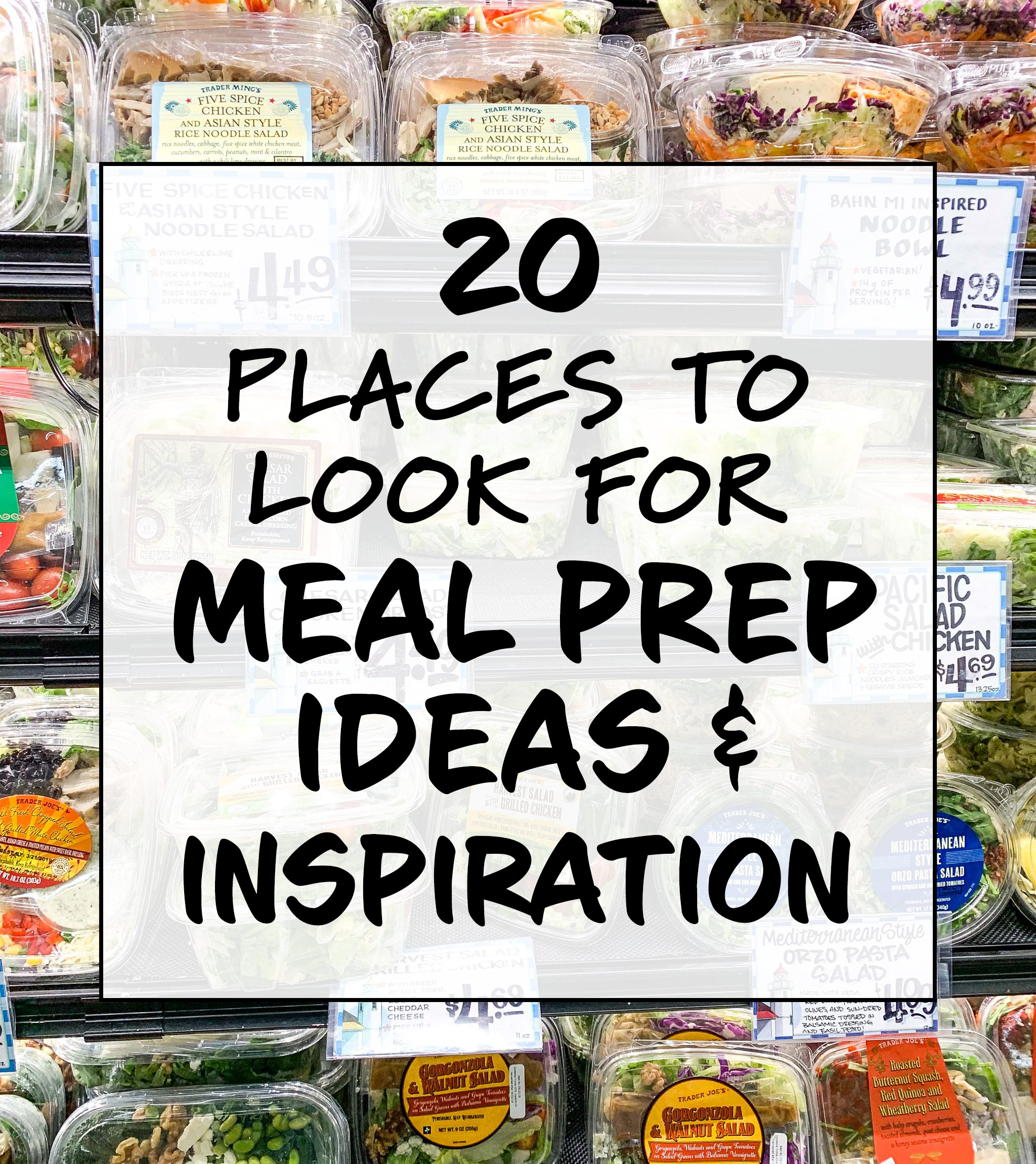 places to look for meal prep ideas and inspiration cover photo