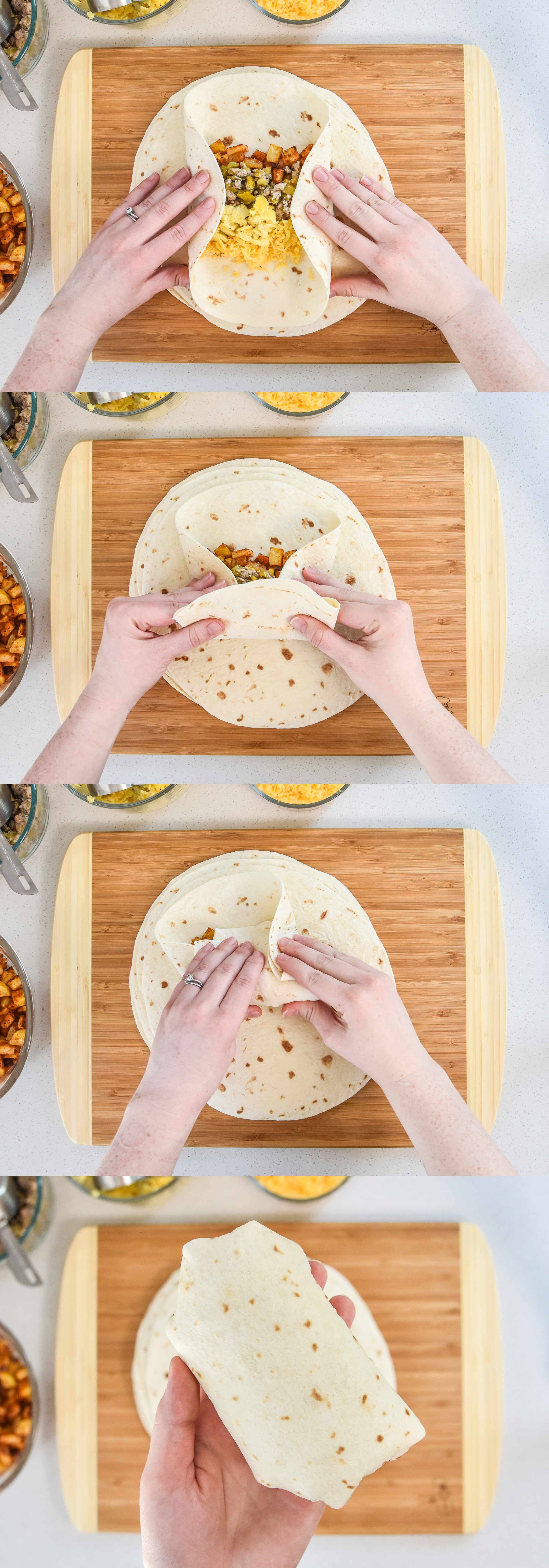 how to wrap an air fryer breakfast burrito