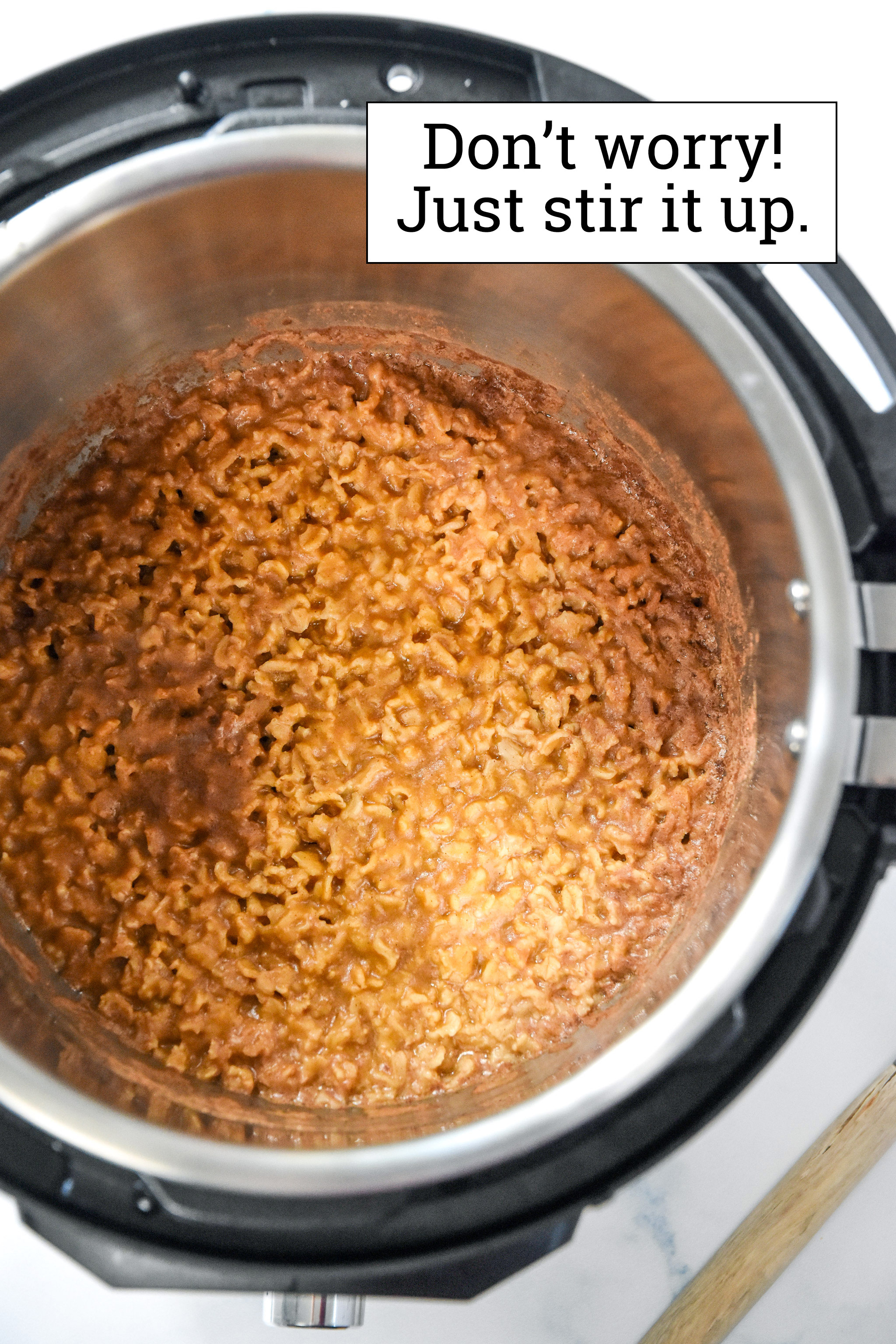 freshly made instant pot pumpkin spice oatmeal.