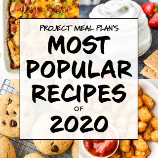 cover photo for article most popular recipes of 2020.